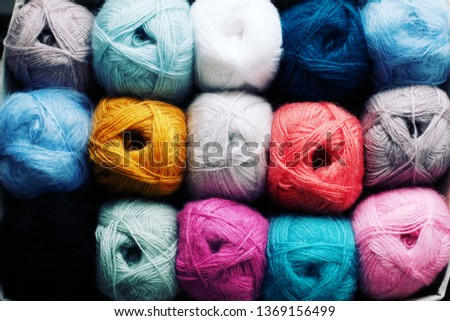 a lot of angora yarn, a variety of colors. Hobbies, knitting from mohair