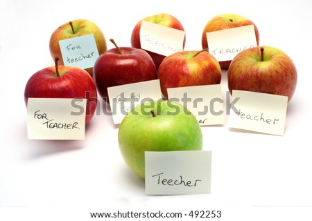 A lot of apples for the teacher