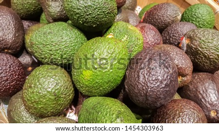 A lot of Avocado, ripe and also not ripe, texture, background