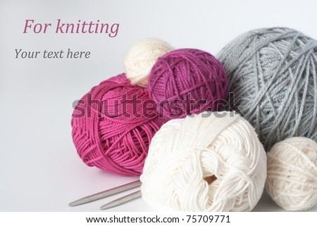 A lot of balls for knitting yarns