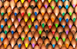A lot of colored pencils background