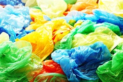 A lot of colorful plastic bags