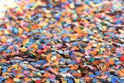 A lot of confetti as background