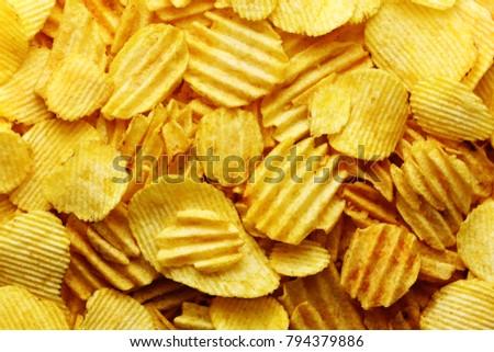 A lot of crisps potato