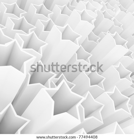 A lot of 3d white stars