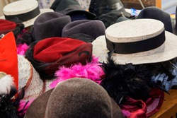 a lot of different hats and headgear
