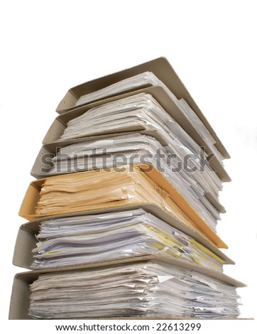 A lot of documents with one another color catalog