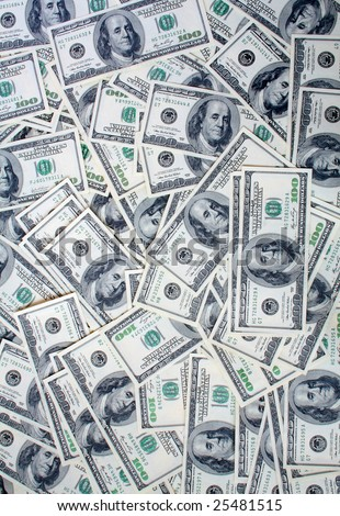 a lot of dolar papers - stock photo