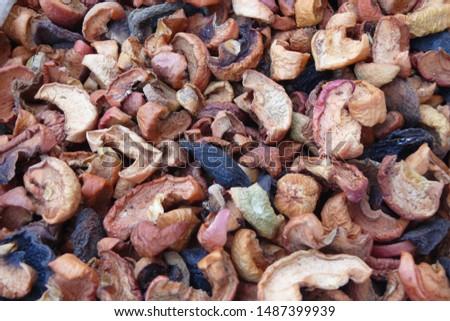 A lot of dried apricots, background of dried apricots,Dried fruits.