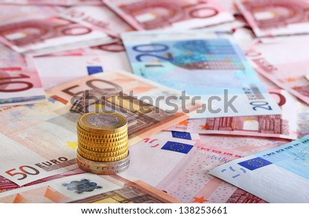 a lot of euro for background