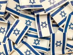 A lot of flags of Israel background wallpaper