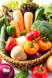 A lot of fresh and delicious vegetables