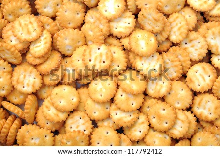 a lot of mini crackers for background