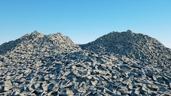 a lot of money. million dollar cash. dollar mountain. Financial concept. 3d rendering.