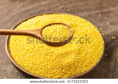 A lot of nutritious millet
