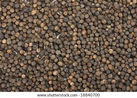a lot of peppercorns useful as background - stock photo