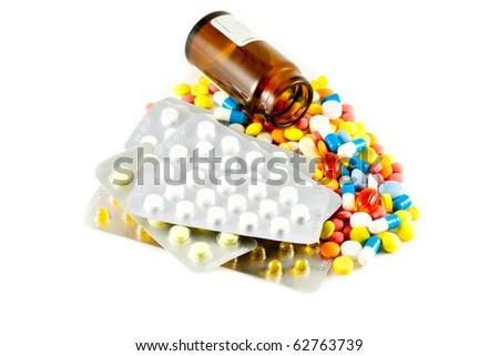 A lot of pills and medicines
