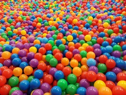 A lot of Plastic Balls In Different Colors