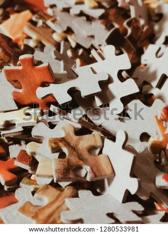 A lot of puzzel pieces