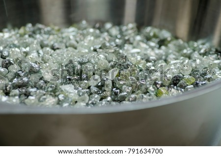 A lot of rough diamonds