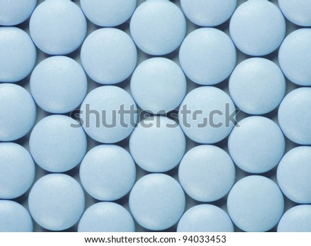 a lot of round pills. medical background