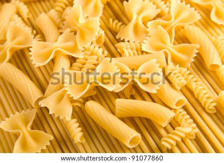 a lot of spaghetti. food background