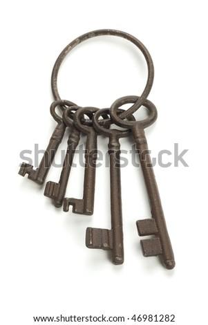 A lots of old rusty keys