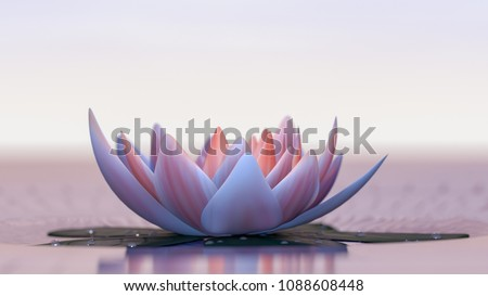 a lotus flower good for relaxation(3d rendering) Photo stock ©