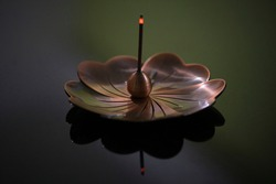 A lotus incense tray used for prayers