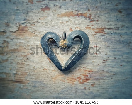A love heart made from iron. #1045116463