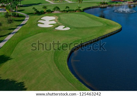 a lovely golf course in florida