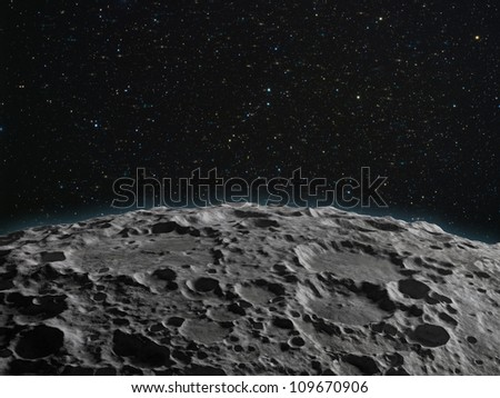 A lunar surface background illustration