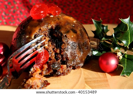 A luxury home made Christmas Pudding