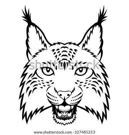 stock photo a lynx head logo this is illustration ideal for a mascot and tattoo or t shirt graphic raster 327485213 gfci breaker wiring diagram gfci find image about wiring diagram,110v Gfci Receptacle Wiring