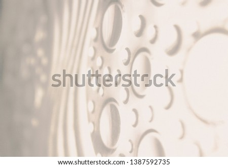 a macro, abstract, background picture of Gray curve of Glass block, Circle, curved shapes. #1387592735