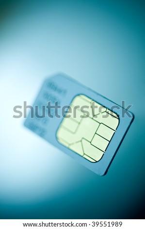 A macro image of a mobile phone sim card.