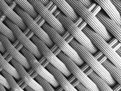 A macro shot of a synthetic fiber.