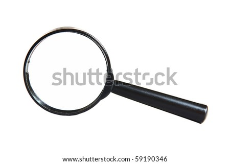 a magnifier isolated on white