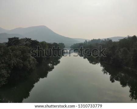 A Majestic River. Mountain River.
