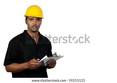 A male construction worker a job site.