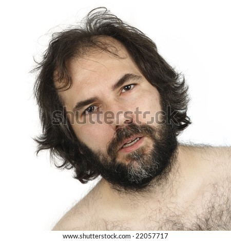 A male in his late thirties with a dumbfounded look on his face. - stock photo