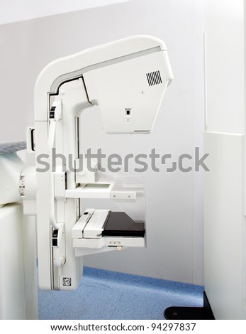 A mammogram x-ray machine in a hospital