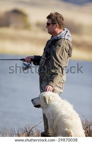 A man and his dog enjoying a day together