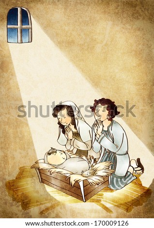 A man and woman praying over a child