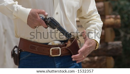 Western Pistols Drawing Cross-draw Western Holster