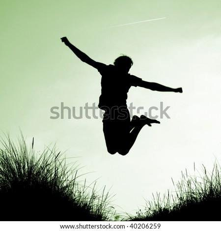 A man enjoying success