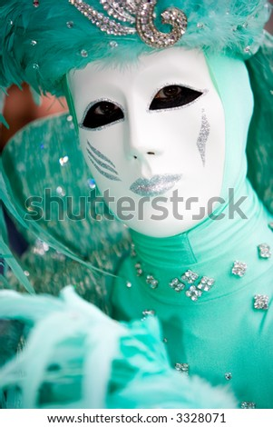 A man in costume at the Venice Carnival (3)