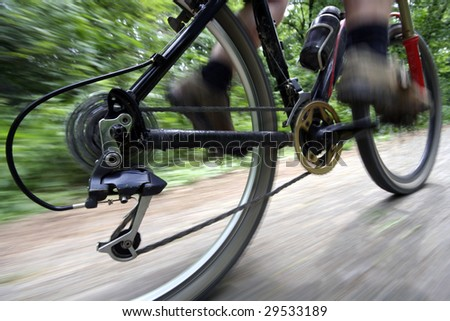 A man riding his mountain bike