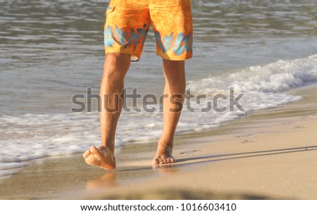 Impossible. Hairy men walking beach realize, told