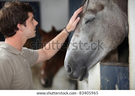A man with his horse
